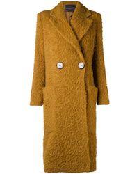 Erika Cavallini Semi Couture - Chunky Single-breasted Coat - Lyst