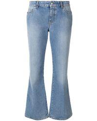 Alexander McQueen - Cropped-Jeans mit ausgestelltem Bein - Lyst