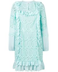Giamba - Ruffle Trim Floral Dress - Lyst