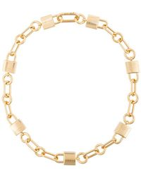 Ambush - Gold Padlock Link Necklace - Lyst