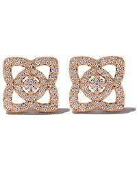 De Beers - 18kt Rose Gold Enchanted Lotus Diamond Stud Earrings - Lyst
