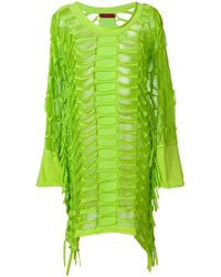 Di Liborio - Laser Net Asymmetric Dress - Lyst