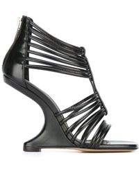 Rick Owens - Strappy Wedge Sandals - Lyst