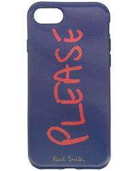 Paul Smith Black Label - Funda Please para iPhone 7 - Lyst
