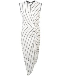 Yigal Azrouël - Knotted Front Tunic Top - Lyst