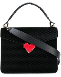 Les Petits Joueurs - Perforated Heart Plaque Bag - Lyst