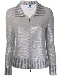 Blumarine - Sequin Embellished Zip Cardigan - Lyst