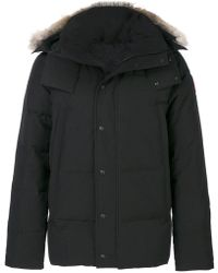 Canada Goose - Coyote Fur Trim Hooded Coat - Lyst