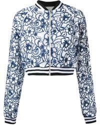Martha Medeiros - Floral Lace Bomber Jacket - Lyst