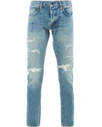Mastercraft Union - John Distressed Slim-fit Jeans - Lyst