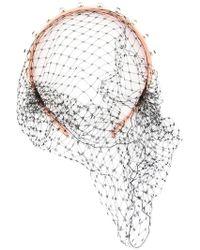 RED Valentino - Net Detail Embellished Headband - Lyst