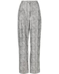 Lardini | Brocade High-waisted Trousers | Lyst