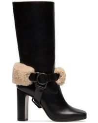 3d4db369a3 Off-White c/o Virgil Abloh - Riding Xx Leather And Shearling Boots -