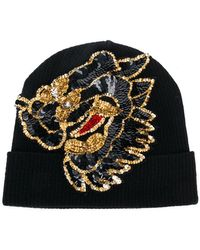 P.A.R.O.S.H. - Sequin Embellished Knitted Hat - Lyst