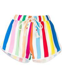 Mira Mikati - Rainbow Striped Shorts - Lyst