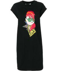 Love Moschino - Printed Dress - Lyst