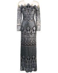 Tadashi Shoji - Robe longue brodée de sequins - Lyst