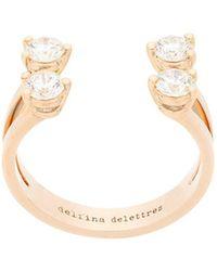 Delfina Delettrez - 18kt Yellow Gold Dots Diamond Ring - Lyst