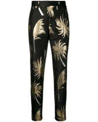 MSGM - Metallic Palm Tree Trousers - Lyst