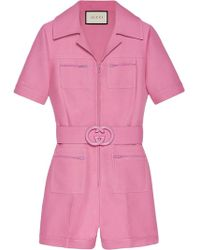 9ce6714c04e Lyst - Women s Gucci Jumpsuits Online Sale