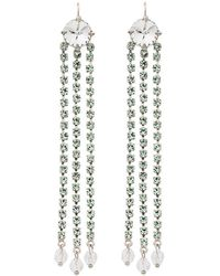 Miu Miu - Dangling Crystal Earrings - Lyst