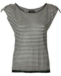 Twin Set - Striped T-shirt - Lyst