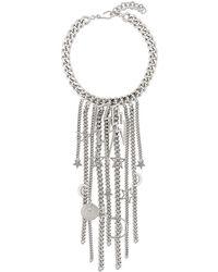 Balmain - Halskette mit Blitz-Anhänger - Lyst