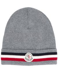 e625f42b4e7 Moncler Camouflage Beanie in Gray for Men - Lyst