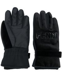 Fendi - Winter Logo Gloves - Lyst