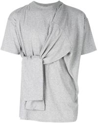 Y. Project - Oversized Tie Detail T-shirt - Lyst