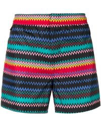 Missoni - Zig Zag Print Swim Shorts - Lyst