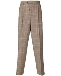 LC23 - Houndstooth Tapered Trousers - Lyst