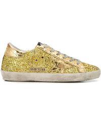 Golden Goose Deluxe Brand - Superstar Glittered Trainers - Lyst