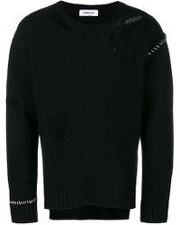 Ambush - Contrast Stitch Distressed Sweater - Lyst