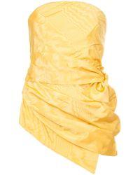 Rosie Assoulin - Ruched Strapless Top - Lyst