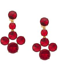 Oscar de la Renta - Scarlet Rivoli Stone Earrings - Lyst