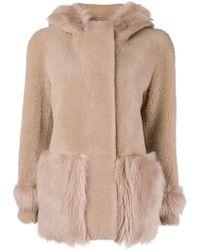 Blancha - Hooded Shearling Jacket - Lyst