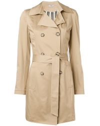 Liu Jo - Double Breasted Trench Coat - Lyst