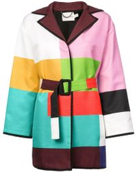 Mary Katrantzou - Color-block Belted Coat - Lyst