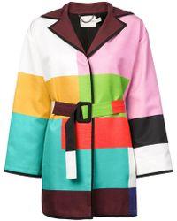 Mary Katrantzou - Color-block Belted Coat - Lyst