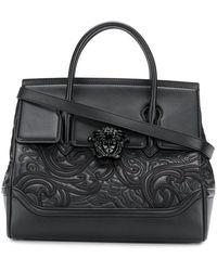 875b802aae94 Lyst - Versace Lemon Leather Palazzo Empire Mini Handbag in Yellow