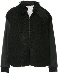 Giamba - Fur Collared Shearling Jacket - Lyst