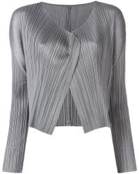 Pleats Please Issey Miyake - Cropped Pleated Jacket - Lyst