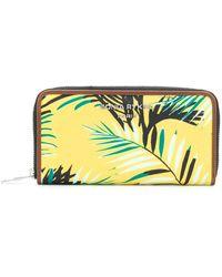Sonia Rykiel - Palm Print Zip Around Wallet - Lyst