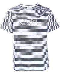 Saturdays NYC - Gestreiftes T-Shirt mit Logo-Stickerei - Lyst