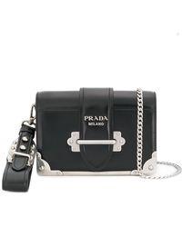 63110069260b Lyst - Prada Cahier Bag in Black