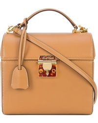 Mark Cross | Enamel Lock Sara Bag | Lyst