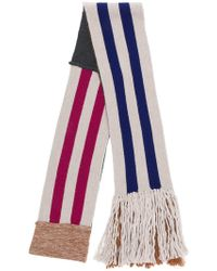 Lanvin - Striped Patchwork Scarf - Lyst