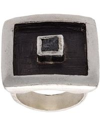 Henson - Floating Cube Square Ring - Lyst