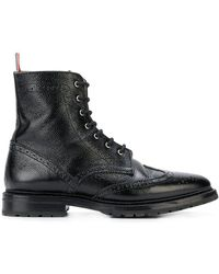 Thom Browne - Pebble Grain Wingtip Boot - Lyst